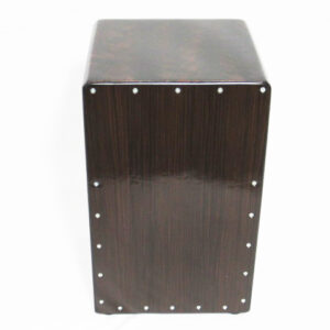 A cajon is a box-shaped percussion instrument originally from Peru, played by slapping the front face with the hands. Originally from Peru.