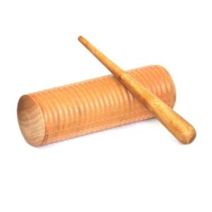 The Guiro is a Latin-American percussion instrument. It is played by dragging the pua (playing stick) along the fluted shell.