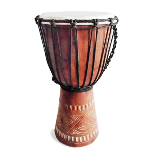 The Junior Djembe is a little pocket rocket of a drum; perfect for primary school aged drummers aged 4 - 12yrs. Available in light or dark finish.