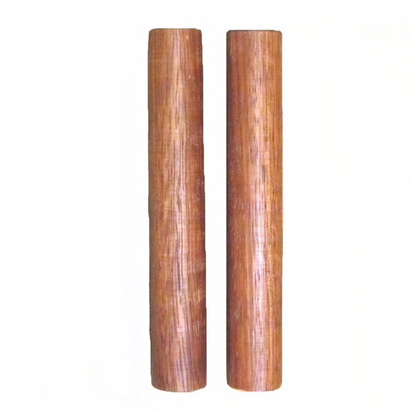 A pair of premium redwood clave. Simple percussive sticks with a sweet melodic tone. Premium quality, handmade in West Africa.